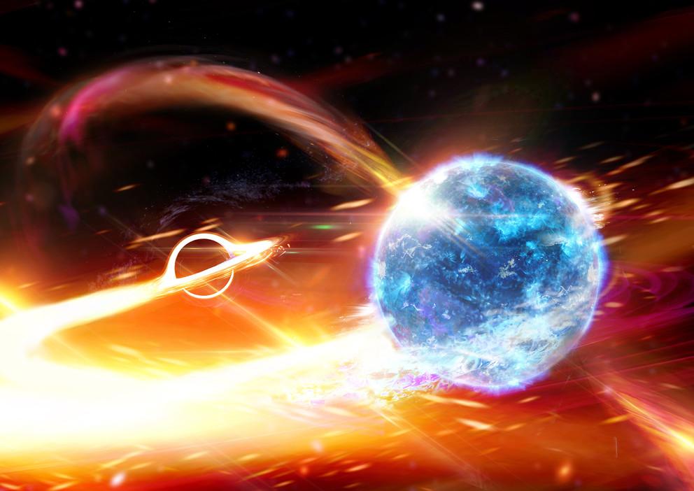 Spazio: osservata la prima fusione di un buco nero con una stella di neutroni