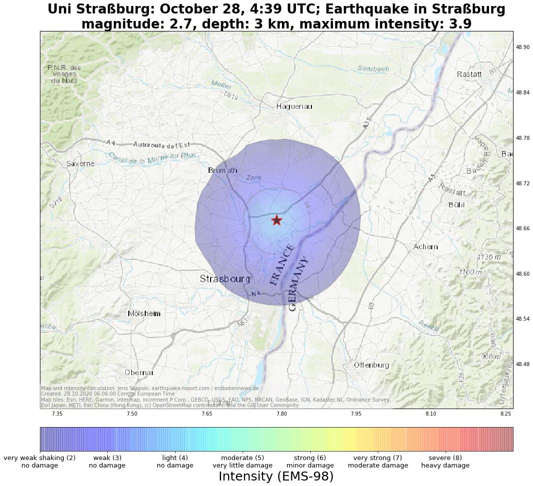 Terremoto Francia: scossa e boati spaventano Strasburgo