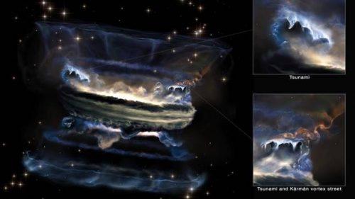 Spazio: scoperto il più grande tsunami di gas dell'Universo