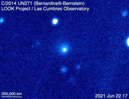 """Spazio: l'immagine della gigantesca cometa """"Bernardinelli-Bernstein"""" in avvicinamento"""