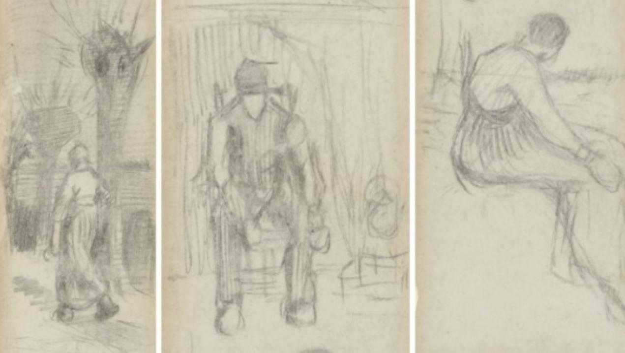 Scoperto un rarissimo segnalibro con tre disegni di Van Gogh tra le pagine di un romanzo