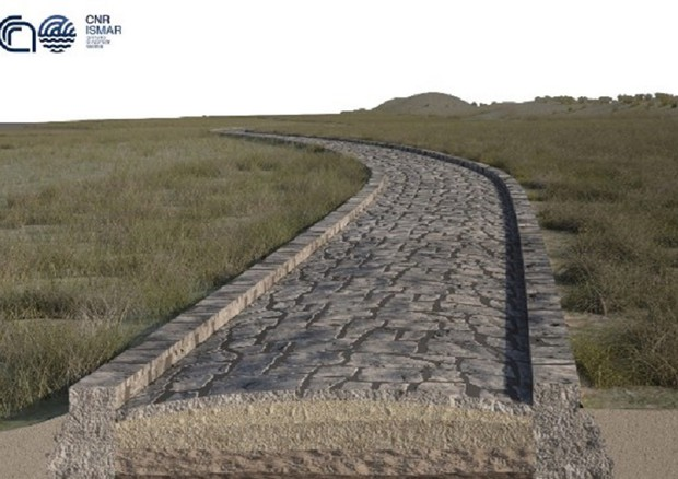 Un'antica strada romana scoperta sotto la laguna di Venezia