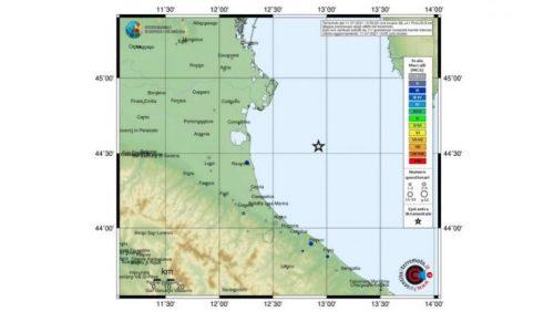 Terremoto in Adriatico. Scossa di 4.1 a largo della riviera romagnola