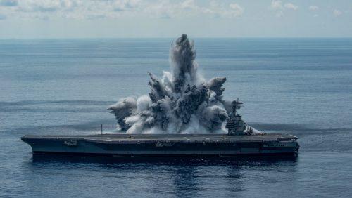 USA: la US Navy fa esplodere una bomba per testare portaerei provocando un forte terremoto