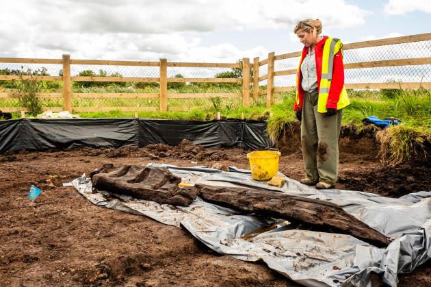 Irlanda: una scultura lignea pagana di 1.600 anni scoperta in una palude