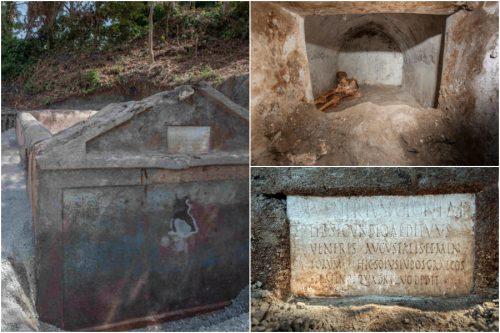 Pompei: scoperti in una tomba resti umani mummificati