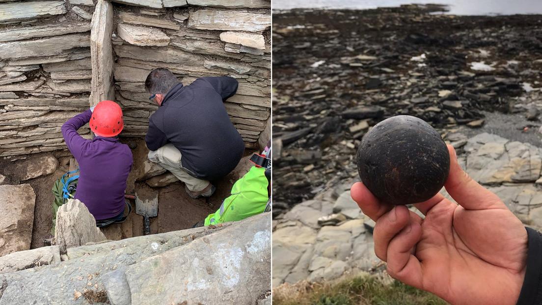 Scozia: due misteriose sfere di pietra scoperte all'interno di un'antica piramide