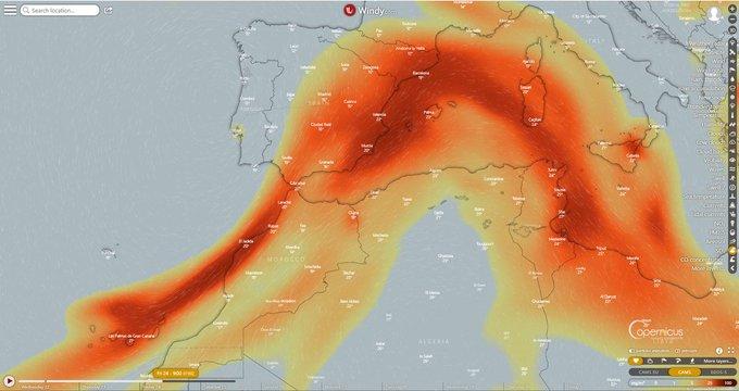 Eruzione Canarie: la nube di anidride solforosa verso Spagna, Francia e Italia