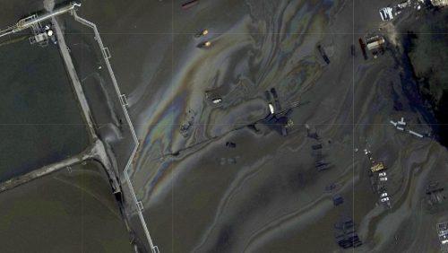 Uragano Ida: una macchia nera appare vicino ad una piattaforma petrolifera nel Golfo del Messico